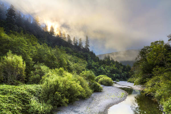 Rogue River Wall Art - Photograph - Oregon Mountain Sunrise by Debra and Dave Vanderlaan