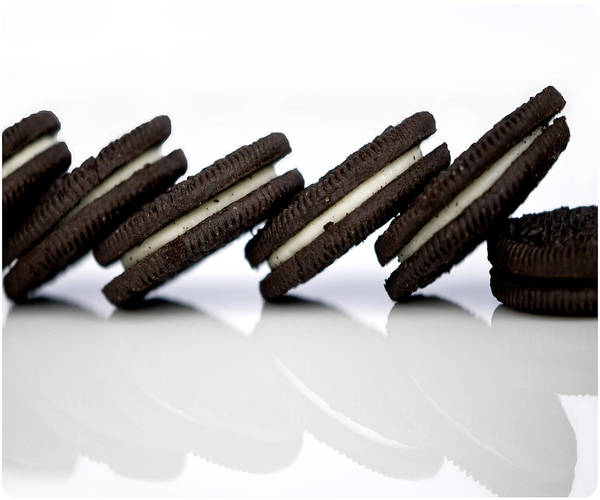 Filling Photograph - Oreo Cookies by Juli Scalzi