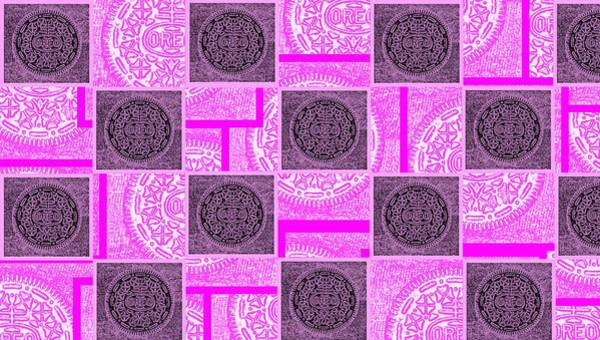 Nabisco Photograph - Oreo Pink Checker Board For The Cure by Rob Hans