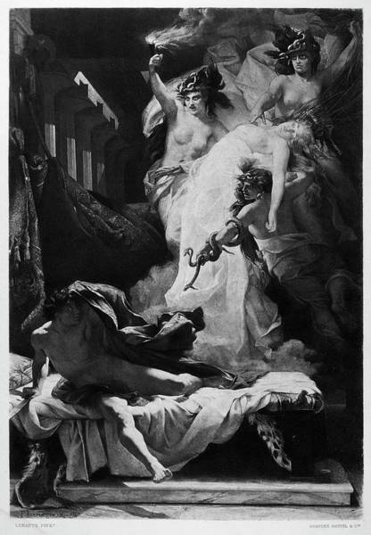Murderer Painting - Orestes And Furies by Granger