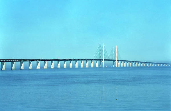 Cable-stayed Bridge Photograph - Oresund Bridge by Alex Bartel/science Photo Library