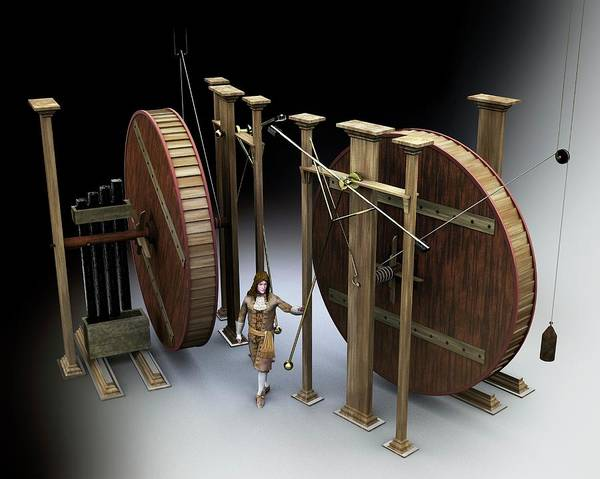 Perpetual Photograph - Orffyreus's Perpetual Motion Machine by Jose Antonio Penas/science Photo Library