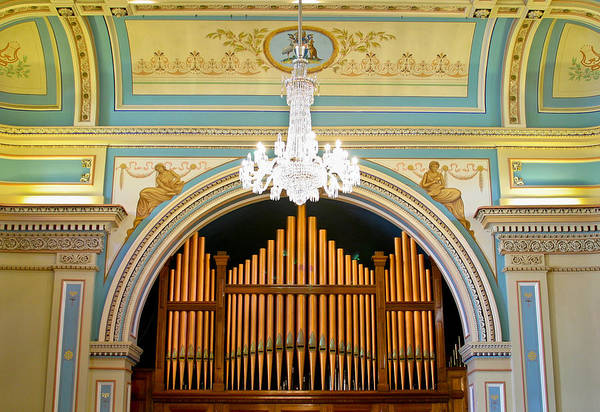 Photograph - Organ And Ceiling by Jenny Setchell