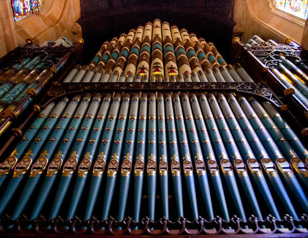 Photograph - Organ In St Andrew Cathedral Sydney by Jenny Setchell