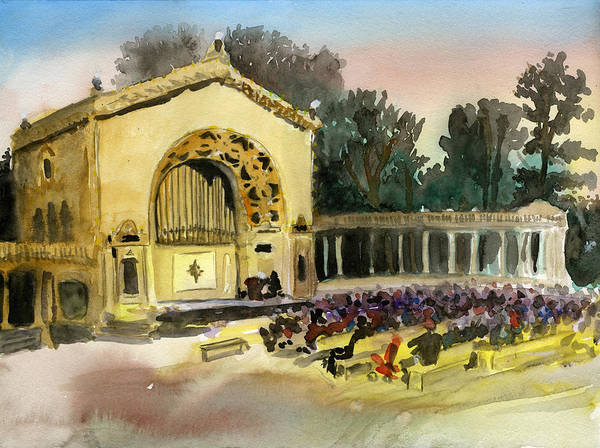 Painting - Organ Pavilion Sunset by Brian Meyer
