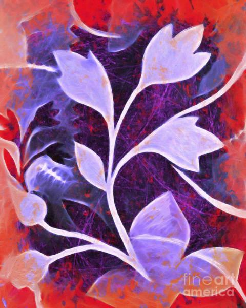 Violet Painting - Organic Bold by Lutz Baar