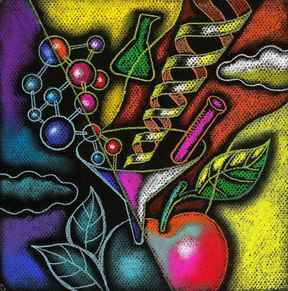 Changing Painting - Organic Food by Leon Zernitsky