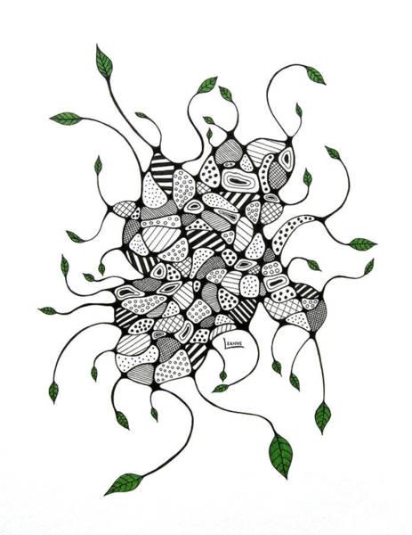 Organic Garden Drawing - Organic by Leanne Karlstrom