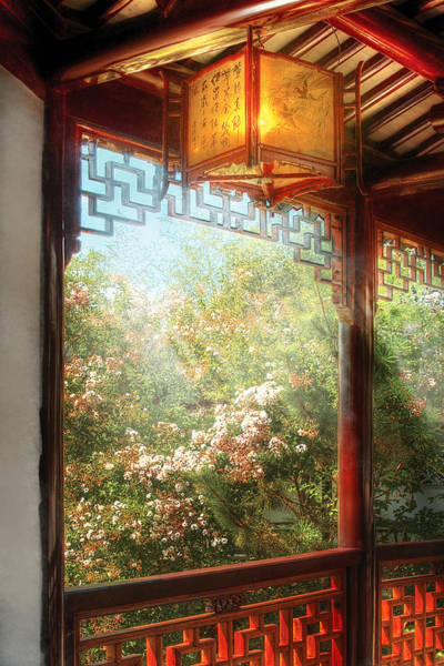Photograph - Orient - Lamp - Simply Chinese by Mike Savad