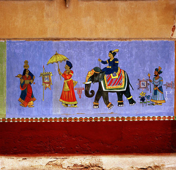 Kerala Mural Photograph - The Story Of India by Shaun Higson