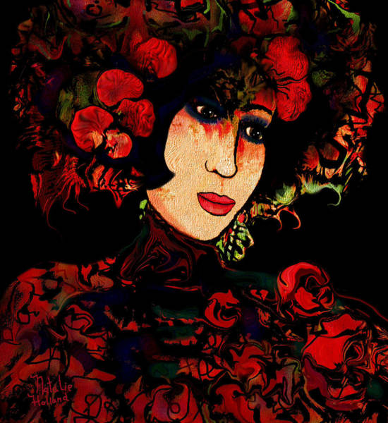 Geisha Mixed Media - Oriental Beauty by Natalie Holland