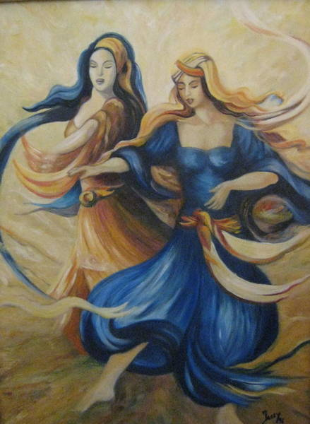 Belly Dancing Painting - Oriental Dancers by Jessy