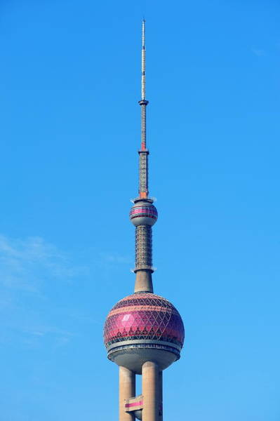 Photograph - oriental pearl tower in Shanghai by Songquan Deng