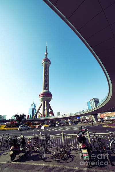 Photograph - Oriental Pearl Tower by Yew Kwang