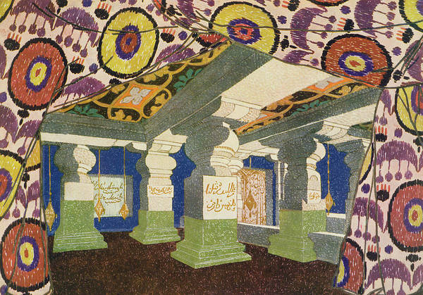 Theatrical Painting - Oriental Scenery Design by Leon Bakst