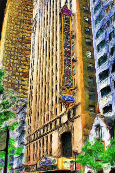 Ely Wall Art - Painting - Oriental Theater Of Chicago by Ely Arsha