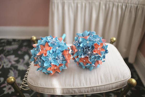 Wall Art - Photograph - Origami Bridesmaid Bouquets by Mike Hope