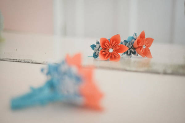 Wall Art - Photograph - Origami Flower Boutonnieres by Mike Hope