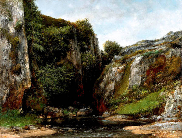 Digital Art - Origin Of A Stream by Gustave Courbet