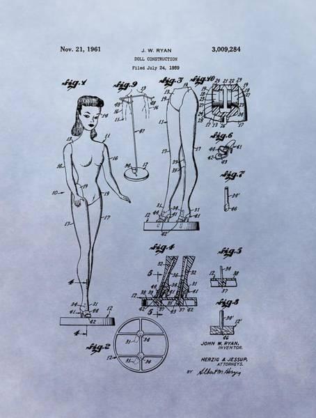 Wall Art - Mixed Media - Original Barbie Doll Patent by Dan Sproul