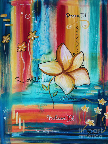 Wall Art - Painting - Original Inspirational Uplifting Floral Painting Inspiring Quote By Megan Duncanson by Megan Duncanson