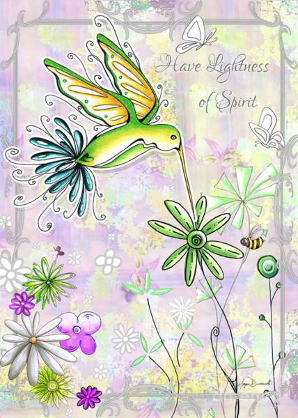 Wall Art - Painting - Original Inspirational Uplifting Hummingbird Floral Painting Art Quote Design By Megan Duncanson by Megan Duncanson