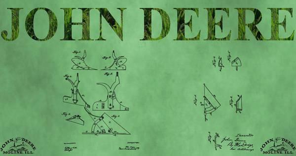 Wall Art - Mixed Media - Original John Deere Patents by Dan Sproul
