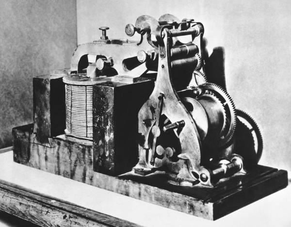 Code Photograph - Original Morse Telegraph by Underwood Archives