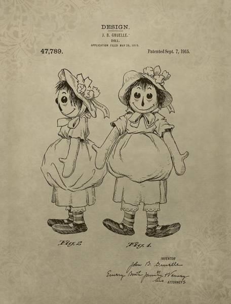 Toy Mixed Media - Original Raggedy Ann Doll by Dan Sproul