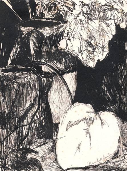 Drawing - Original Studio Still Life by Kendall Kessler