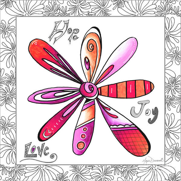 Wall Art - Painting - Original Uplifting Inspirational Flower Quote Typography Art By Megan Duncanson by Megan Duncanson
