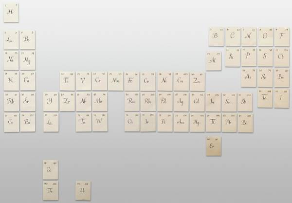 Periodic Table Photograph - Original Version Of The Periodic Table by Dorling Kindersley/uig