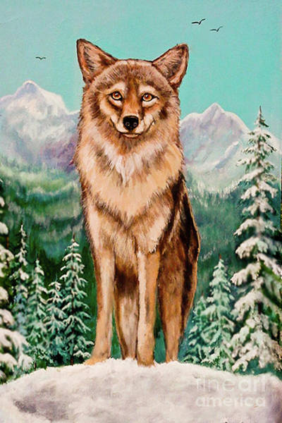 Nadine Painting - Original Painting Wiley Coyote For Sale by Bob and Nadine Johnston