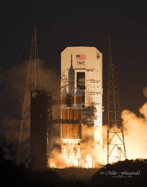Delta Iv Photograph - Orion Launch by Mike Fitzgerald