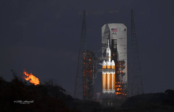 Delta Iv Photograph - Orion On The Pad by Mike Fitzgerald