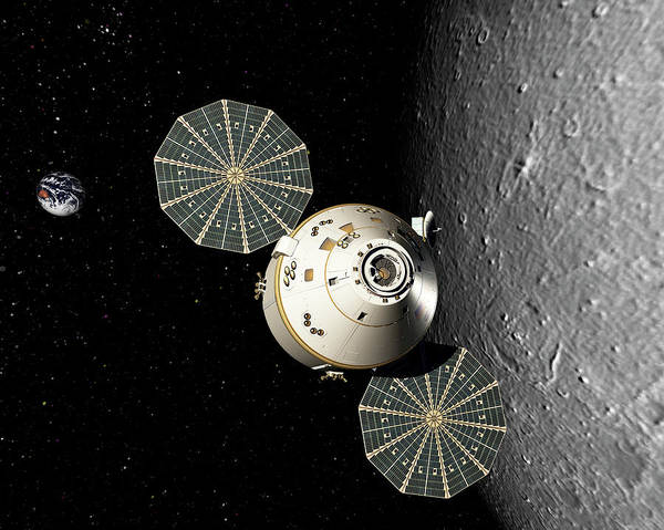 Wall Art - Photograph - Orion Spacecraft by Lockheed Martin Corporation/nasa/science Photo Library