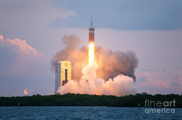 Delta Iv Photograph - Orion Test Launch, Cape Canaveral by Chris Cook