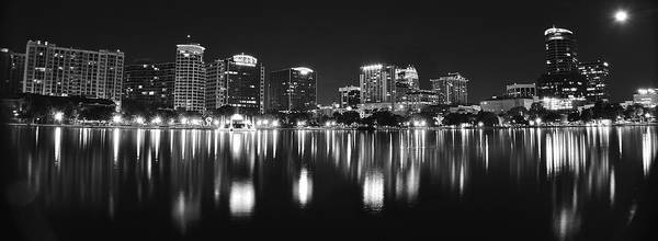 Wall Art - Photograph - Orlando Black And White Panorama by Frozen in Time Fine Art Photography