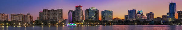 Photograph - Orlando Florida Skyline Panorama by Susan Candelario