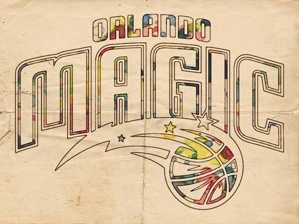 Painting - Orlando Magic Retro Poster by Florian Rodarte