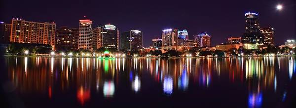 Wall Art - Photograph - Orlando Over Lake Eola by Frozen in Time Fine Art Photography