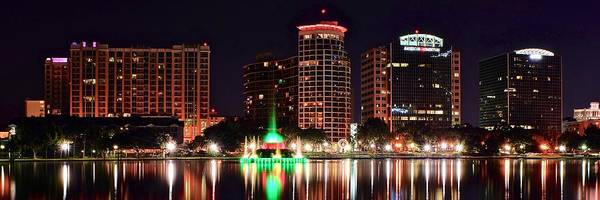 Wall Art - Photograph - Orlando Panorama by Frozen in Time Fine Art Photography