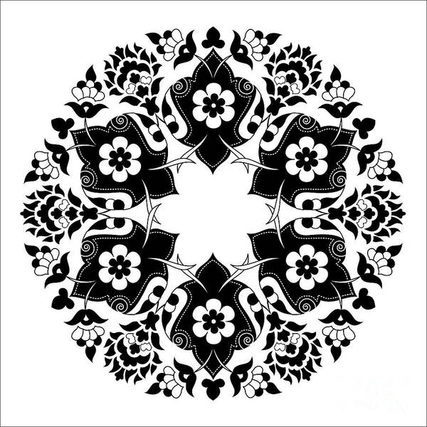 Symmetrical Digital Art - Ornament And Design Ottoman Decorative by Antsvgdal