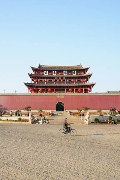 Chinese Language Photograph - Ornate Building With Wall And Courtyard by Cultura Rm Exclusive/matt Dutile