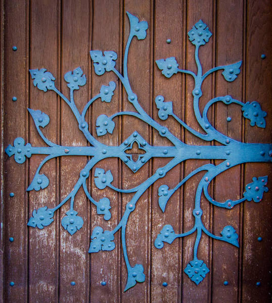 Iron Age Photograph - Ornate Church Door Hinge by Mr Doomits
