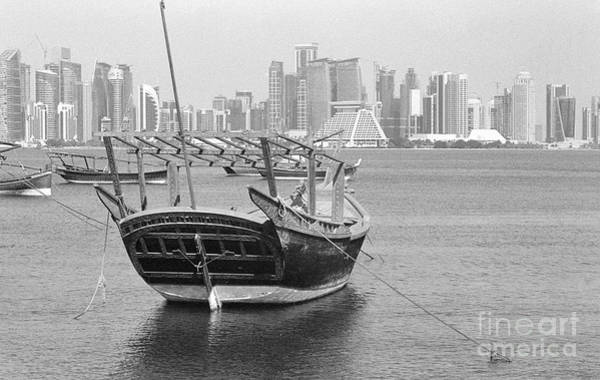 Photograph - Ornate Dhow And Doha Towers by Paul Cowan