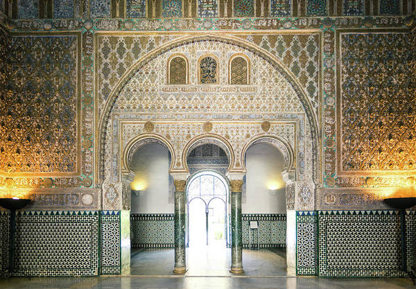 World Heritage Site Photograph - Ornate Door Inside The Alcazar Palace by Matteo Colombo