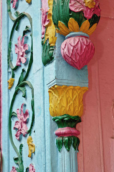 Wall Art - Photograph - Ornate Doorway Details, Delhi, India by Adam Jones