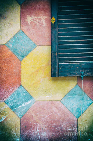 Photograph - Ornate Wall With Shutter by Silvia Ganora
