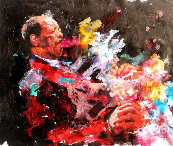 Free Jazz Painting - Ornette Coleman by Massimo Chioccia